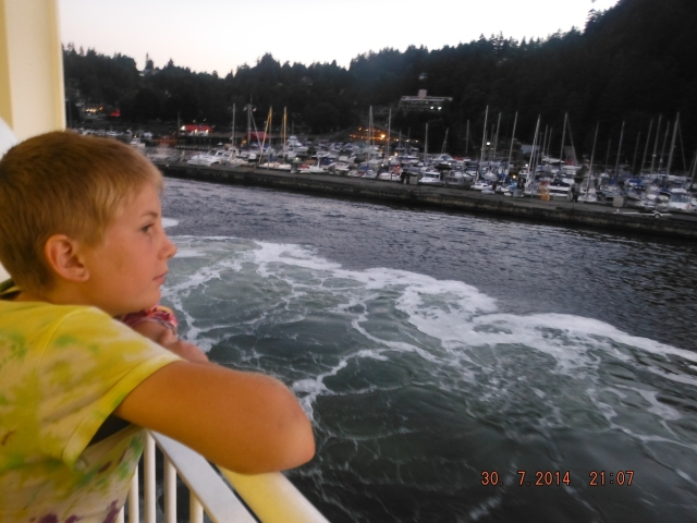 Gaelyn on approach to Horseshoe Bay