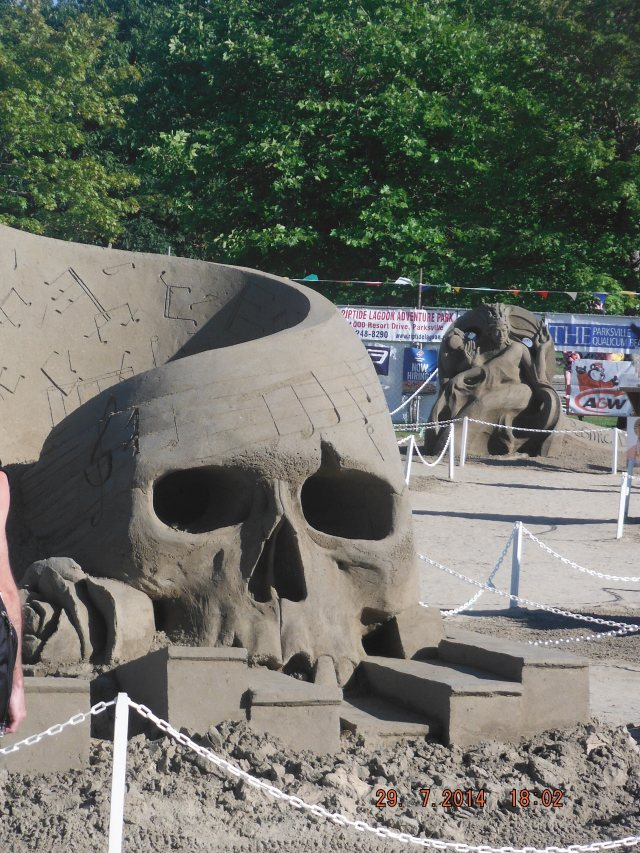 Sandcastle competition each year.