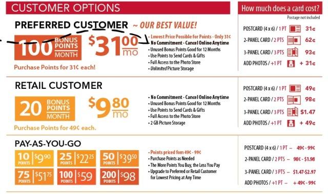 customer options w arrow
