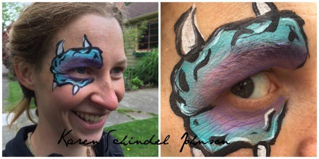 Rauchelle did her own face.  Good job.