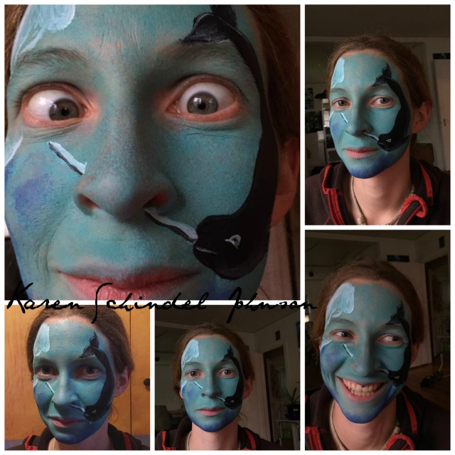 Collage Rauchelle narwahl facepainting