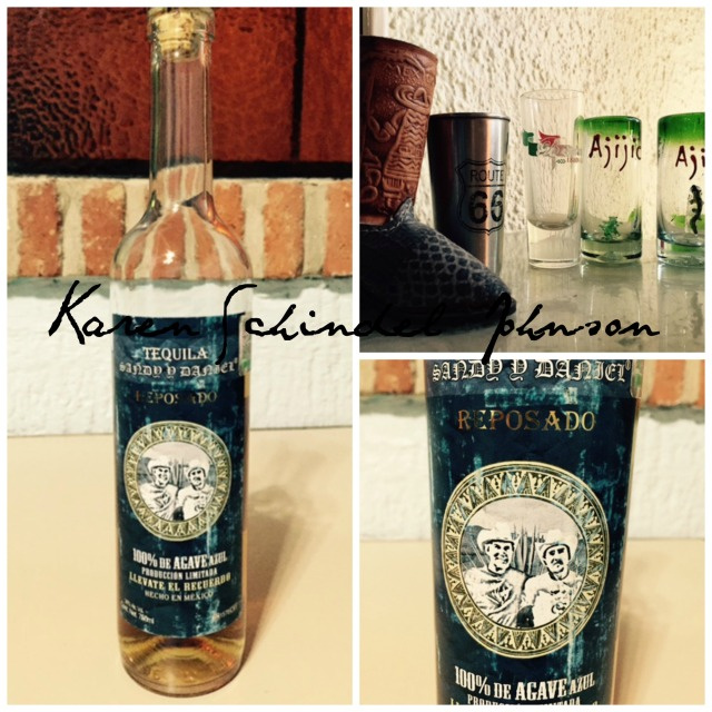 Collage Tequila bottle