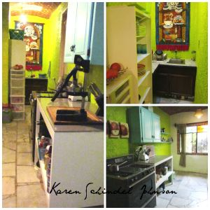 Our new colorful kitchen.